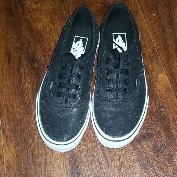 Vans Shoes | Custom Glitter Vans | Poshmark